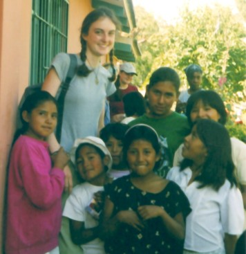 Emilie at an orphanage in Bolivia