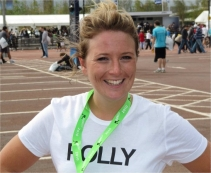 Polly after the ordeal (still smiling)